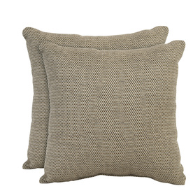 allen + roth Set of 2 Sunbrella Latte UV-Protected Outdoor Accent Pillow