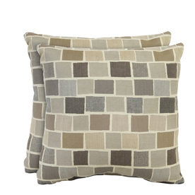 allen + roth Set of 2 Sunbrella Slate UV-Protected Square Outdoor Decorative Pillows
