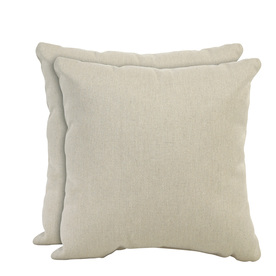 allen + roth Set of 2 Sunbrella Papyrus UV-Protected Square Outdoor Decorative Pillows