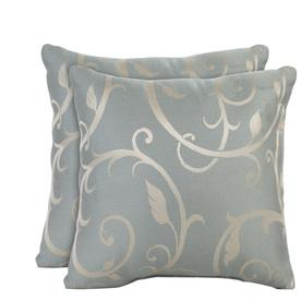 allen + roth Set of 2 Sunbrella Blue Haze UV-Protected Square Outdoor Decorative Pillows