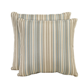 allen + roth Set of 2 Sunbrella Mist UV-Protected Square Outdoor Decorative Pillows