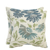 allen + roth Set of 2 Sunbrella Baltic UV-Protected Outdoor Accent Pillow