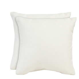 allen + roth Set of 2 Sunbrella Pearl UV-Protected Square Outdoor Decorative Pillows