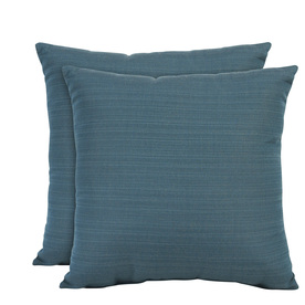 allen + roth Set of 2 Sunbrella Deep Sea UV-Protected Outdoor Decorative Pillows