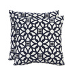 allen + roth Set of 2 Sunbrella Indigo UV-Protected Outdoor Accent Pillow