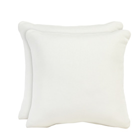 allen + roth Set of 2 Sunbrella Natural UV-Protected Square Outdoor Decorative Pillows