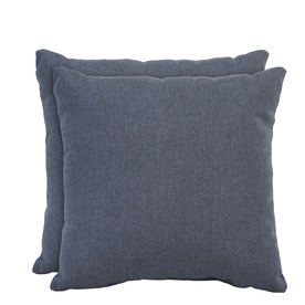 allen + roth Set of 2 Sunbrella Denim UV-Protected Outdoor Accent Pillow
