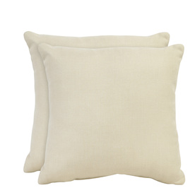 allen + roth Set of 2 Sunbrella Sand UV-Protected Square Outdoor Decorative Pillows
