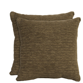allen + roth Set of 2 Sunbrella Bronze UV-Protected Square Outdoor Decorative Pillows