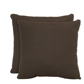 allen + roth Set of 2 Sunbrella Coffee UV-Protected Outdoor Decorative Pillows
