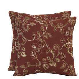 allen + roth Set of 2 Sunbrella Eureka Henna UV-Protected Outdoor Decorative Pillows
