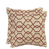 allen + roth Set of 2 Sunbrella Terracotta UV-Protected Outdoor Accent Pillow