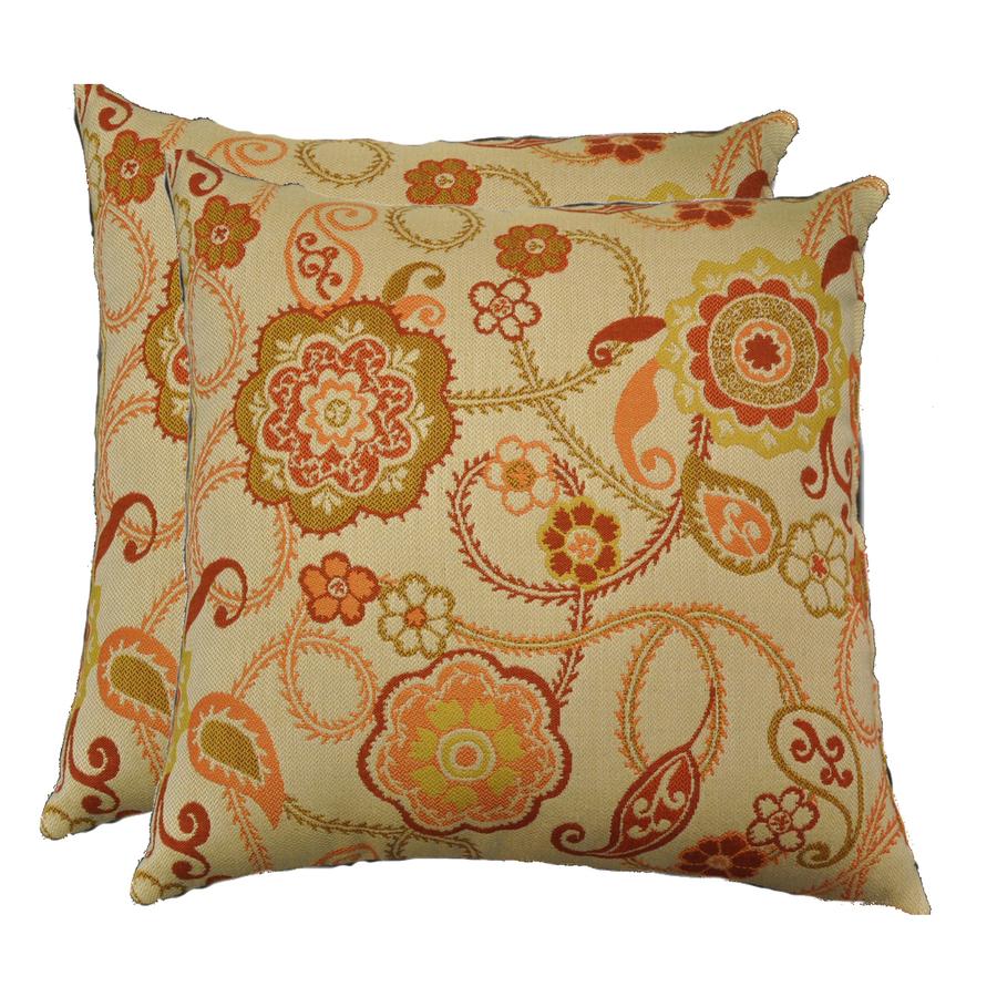 Sunbrella Outdoor Decorative Pillows : Shop allen + roth Set of 2 Sunbrella Fiesta UV-Protected Outdoor Decorative Pillows at Lowes.com