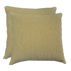 allen + roth Set of 2 Sunbrella Gourd UV-Protected Square Outdoor Decorative Pillows