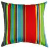 Garden Treasures Stripe Square Throw Outdoor Decorative Pillow