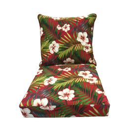 Exceptional Display Product Reviews For Red Floral Deep Seat Patio Chair Cushion For  Deep Seat Chair