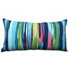 allen + roth Stripe Rectangular Lumbar Outdoor Decorative Pillow