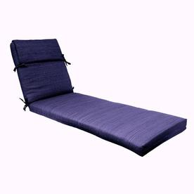 Shop Allen Roth Blue Solid Cushion For Chaise Lounge At
