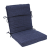 allen + roth Navy Texture Cushion for High-Back Chair