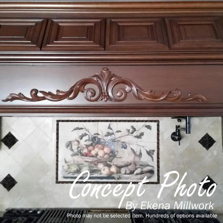 Ekena Millwork ROS05X05X01LFAL Large Leaf Rosette 5 1//8 X 5 1//8 X 7//8 Alder