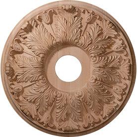 Ekena Millwork Florentine 20-in x 20-in Wood Ceiling Medallion
