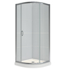 DreamLine Solo White Acrylic Wall and Floor Round 3-Piece Corner Shower Kit (Actual: 76.75-in x 36-in x 36-in)