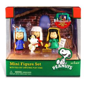 Peanuts Plastic Mini Figure Set Christmas Collectible
