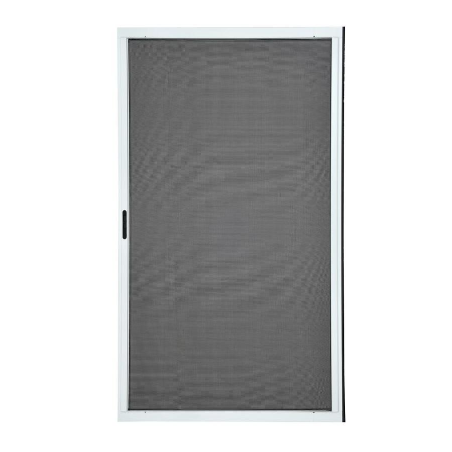 Grisham 48 In X 80 In White Aluminum Frame Sliding Screen Door In The Screen Doors Department At Lowes Com