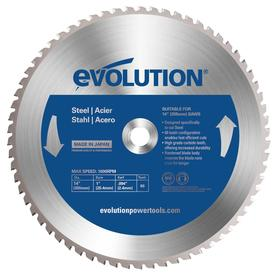 Evolution 14-in 66-Tooth Standard Tungsten Carbide-Tipped Steel Circular Saw Blade