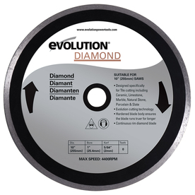 Evolution 10-in Wet or Dry Continuous Diamond Circular Saw Blade