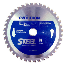 Evolution 7-1/4-in 48-Tooth Standard Tungsten Carbide-Tipped Steel Circular Saw Blade