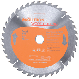 Evolution 10-in 40-Tooth Standard Tungsten Carbide-Tipped Steel Circular Saw Blade