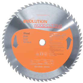 Evolution 14-in 60-Tooth Standard Tungsten Carbide-Tipped Steel Circular Saw Blade