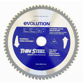 Evolution 9-in 68-Tooth Standard Tungsten Carbide-Tipped Steel Circular Saw Blade
