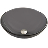 VIGO Sheer Black Frost Glass Vessel Round Bathroom Sink