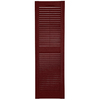 Custom Shutters llc. 2-Pack Burgundy Louvered Vinyl Exterior Shutters (Common: 14-in x 70-in; Actual: 14.5-in x 70-in)