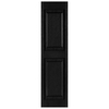 Custom Shutters llc. 2-Pack Black Raised Panel Vinyl Exterior Shutters (Common: 14-in x 57-in; Actual: 14.5-in x 57-in)