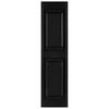 Custom Shutters llc. 2-Pack Black Raised Panel Vinyl Exterior Shutters (Common: 16-in x 59-in; Actual: 16.25-in x 59-in)