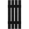 Custom Shutters llc. 2-Pack Black Board and Batten Vinyl Exterior Shutters (Common: 16-in x 63-in; Actual: 16-in x 63-in)