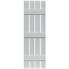 Custom Shutters llc. 2-Pack Paintable Board and Batten Vinyl Exterior Shutters (Common: 47-in x 16-in; Actual: 47-in x 16-in)