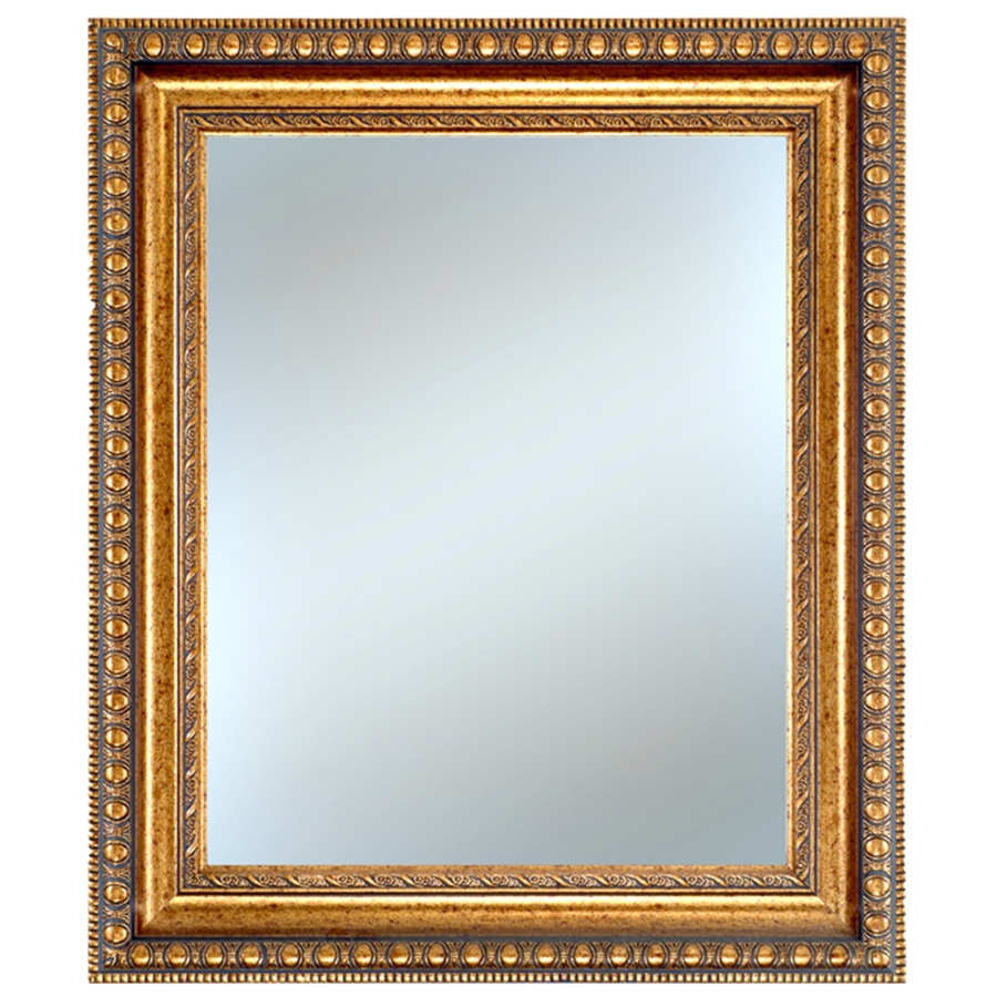 shop alpine art mirror 26 in x 30 in gold rectangle