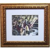 Alpine Art & Mirror Old Time Jazz by David Linanetz with a White Mat and Gold Frame