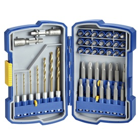 Kobalt 44-Pack Titanium Twist Drill Bit Set
