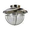 eLIGHT Coastal 11.25-in W Brushed Nickel Outdoor Flush-Mount Light