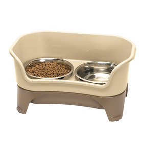 Neater Pet Brands Cappuccino Combination Double Basin Dog Bowl