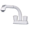 cleanFLO Andromeda White 2-Handle Utility Faucet with Pulldown Sprayer