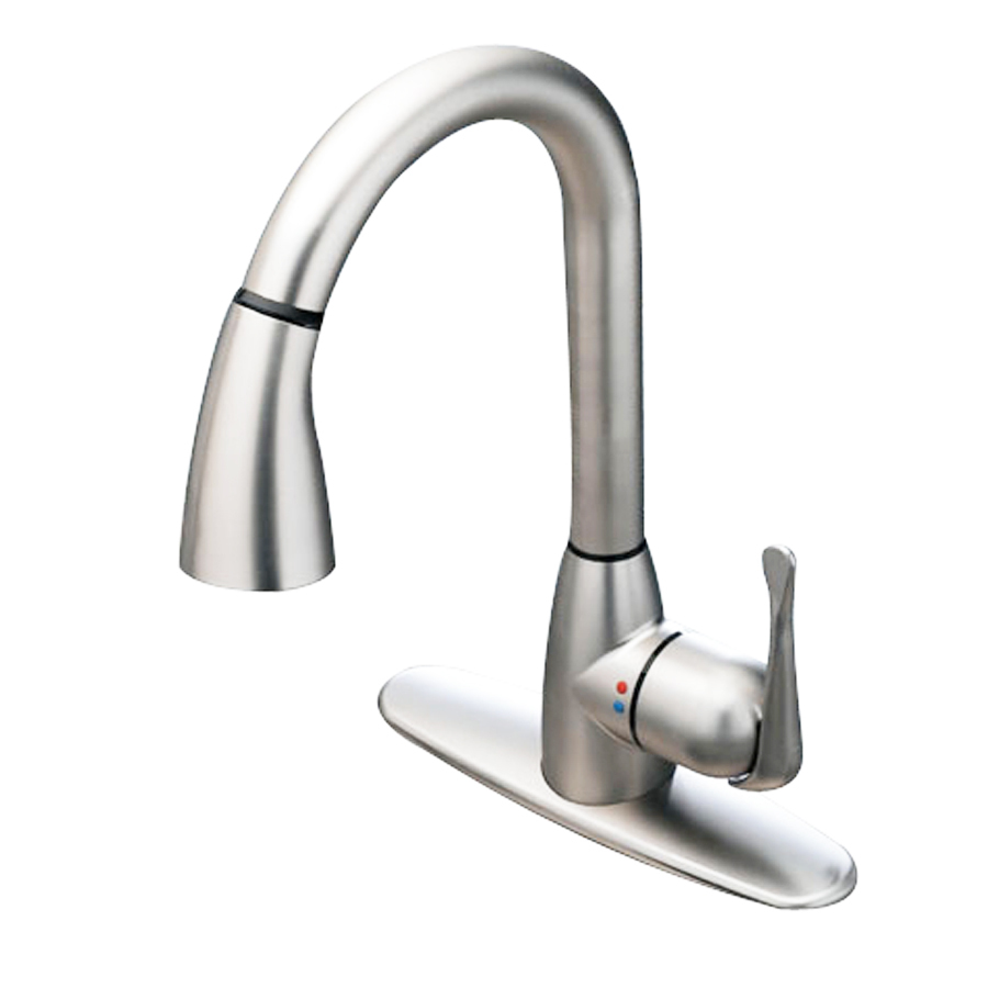 Shop cleanflo andromeda stainless steel 1 handle pull down - Lowes kitchen sink faucet ...