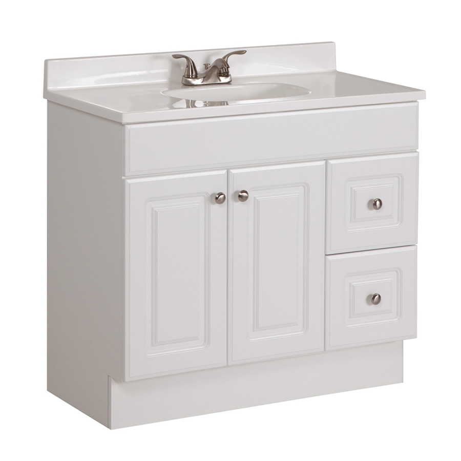 Sink Bathroom Vanity with Cultured Marble Top Common: 36in x 18