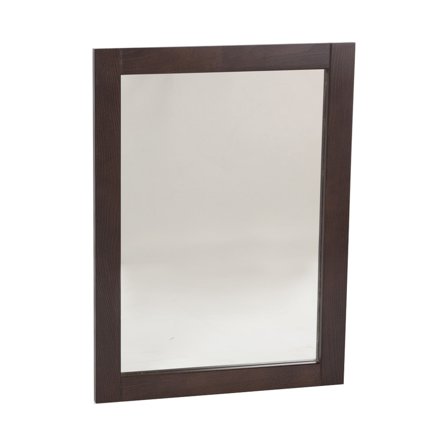 20 in w clementon cocoa rectangular bathroom mirror at