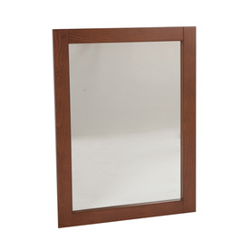 Style Selections 28-in H x 22-in W Clementon Russett Rectangular Bathroom Mirror